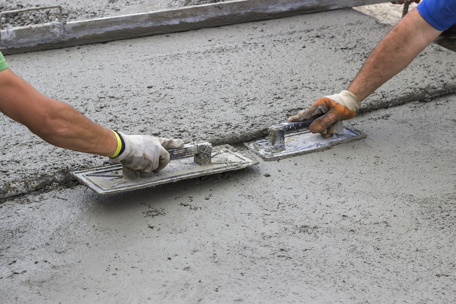 this image shows concrete finishing by carlsbad concrete masonry