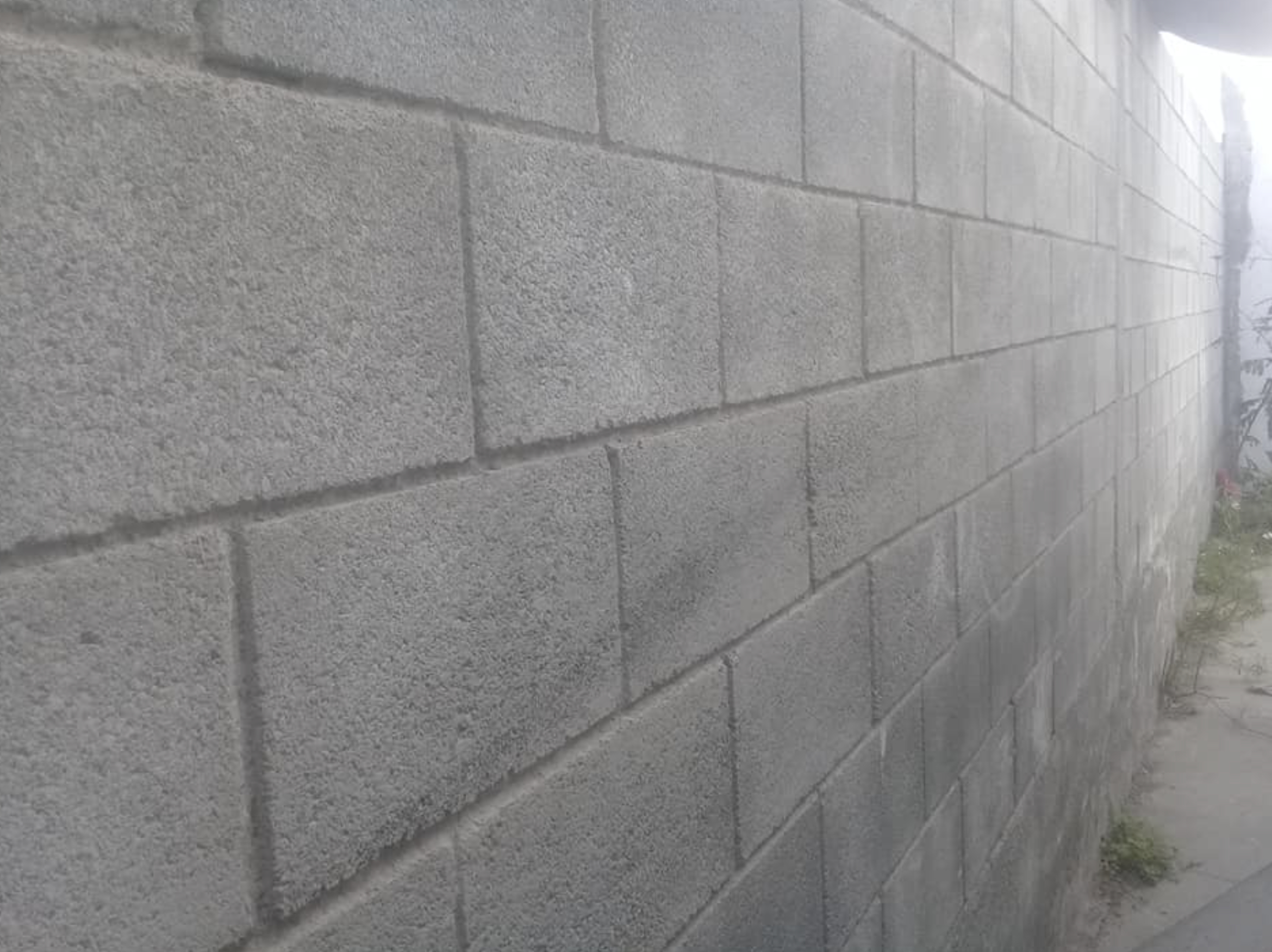 this image shows concrete wall in Carlsbad, California