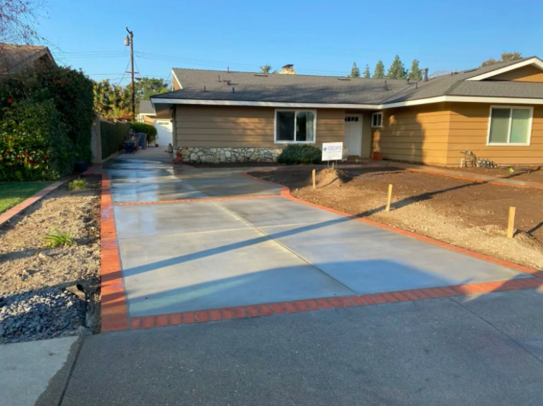 this image shows driveway in Carlsbad, California