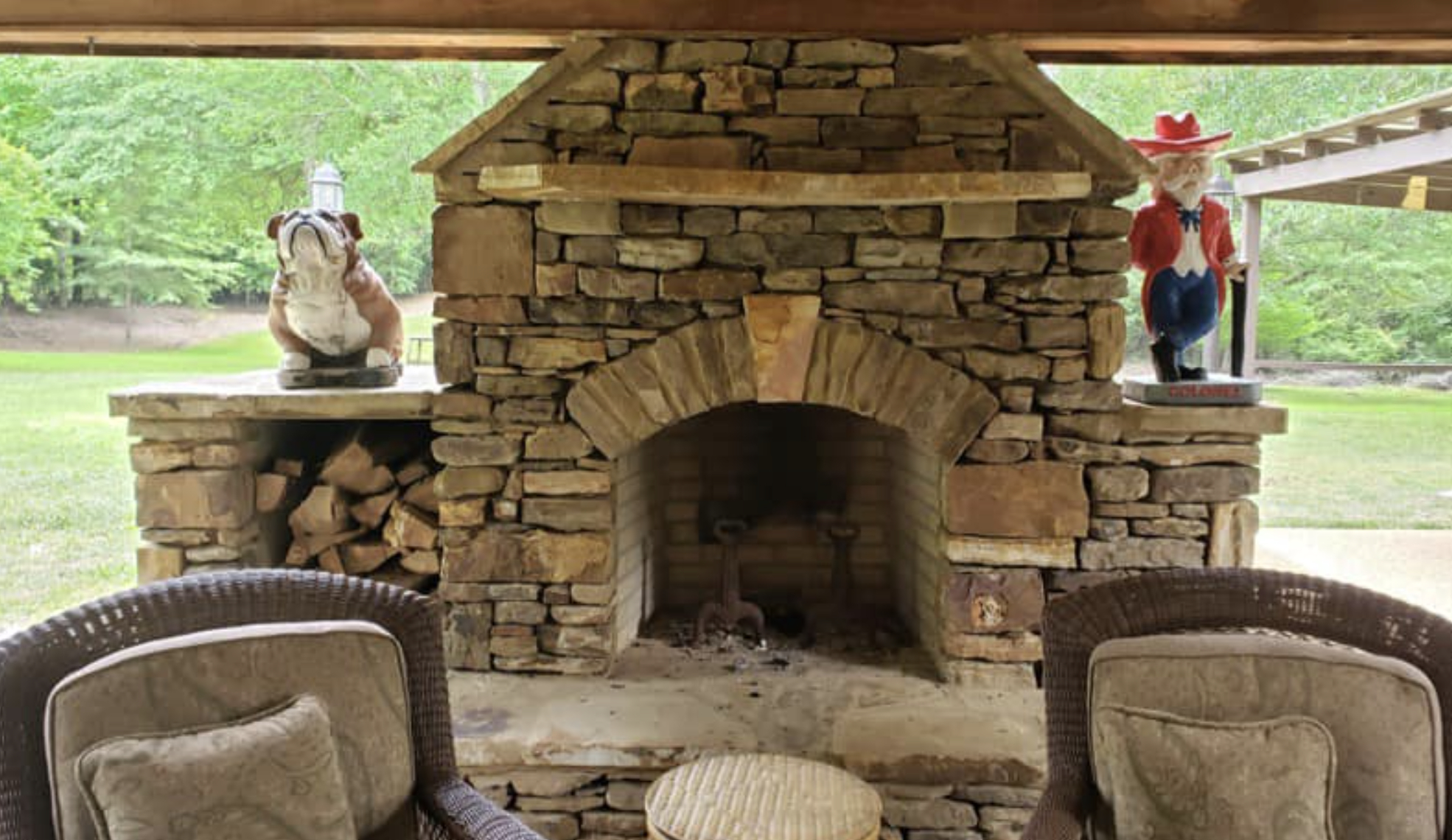 this image shows fireplace in Carlsbad, California
