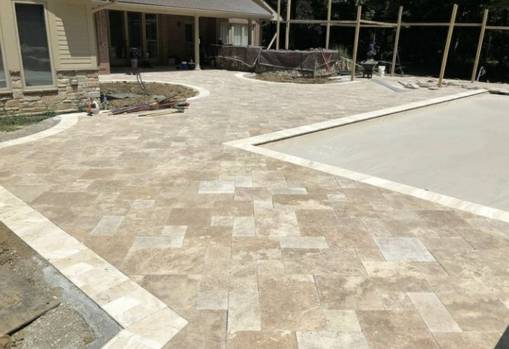 this image shows patio in Carlsbad, California