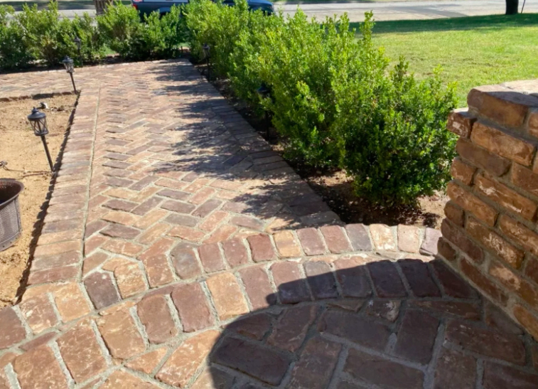 this image shows stone pavemenr in Carlsbad, California