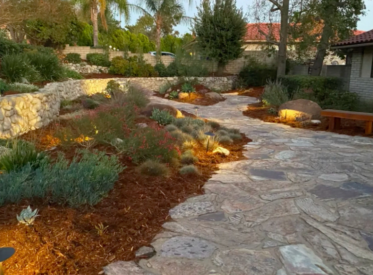 this image shows stone pavement in Carlsbad, California