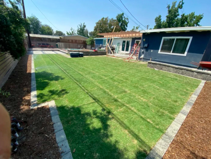 this image shows turf installation in Carlsbad, California